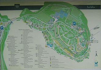 Mainau - Island map