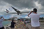 Plane watching from Maho Beach, St Maarten, Oct 2014 (15137171743).jpg