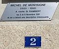 Plaque à Michel Montaigne à Saint-Rambert-en-Bugey (août 2019).jpg