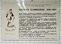 Plaque Georges Clemenceau (station Champs-Élysées - Clémenceau du Métro).JPG