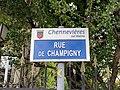Plaque Rue Champigny - Chennevières-sur-Marne (FR94) - 2021-05-05 - 2.jpg