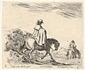 Plate 8- a horseman descends a riverbank, another horseman in river to right, from 'Diversi capricci' MET DP833185.jpg