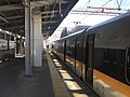 Platform of Hakata-Minami Station and train of Hakata-Minami Line.jpg