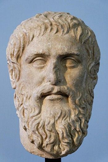 Plato. Luni marble, copy of the portrait made ...