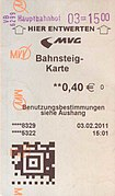 Plattform ticket MVV Munich Germany.jpg
