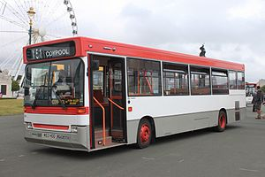 Volvo B6 - Preserved Plymouth Citybus Plaxton Pointer bodied B6 in Bristol in April 2013