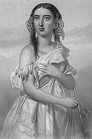 History of women in the United States - Pocahontas (1595–1615) of Virginia