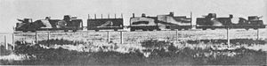 Armoured train - A Polish armoured train, the Danuta, in 1939. From the left: artillery wagon, infantry assault wagon, armoured locomotive, artillery wagon