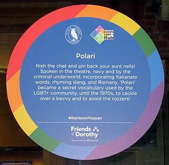 Polari - Rainbow Plaque on Leeds City Varieties theatre
