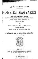 Poésies magyares