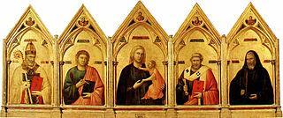 <i>Badia Polyptych</i> painting by Giotto di Bondone