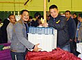 Polling officials collecting the Electronic Voting Machines (EVMs) and other necessary belongings for use in the Meghalaya Assembly Election, at Shillong on February 25, 2018 (1).jpg