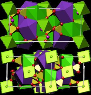 Polyhalite - Crystal structure of polyhalite