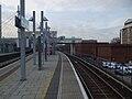 Poplar DLR stn Beckton Woolwich eastbound platform look west.JPG