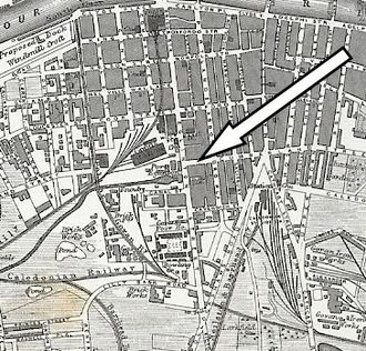 Glasgow, Paisley and Johnstone Canal - location of Port Eglinton
