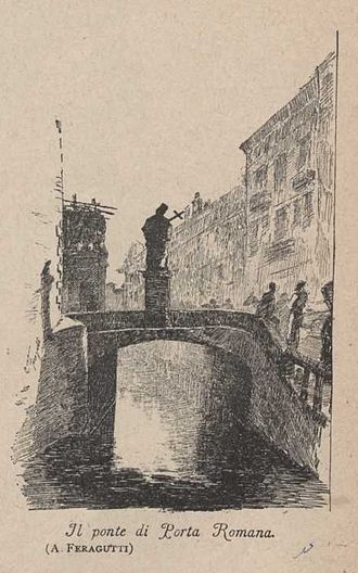 Porta Romana (Milan) - Porta Romana bridge in the 19th century