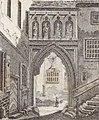 Portal des Lichthof, Johann Peter Weyer (Zeichnung) und Anton Wünsch (Lithografie), 1827 (from book).jpg