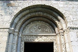 Val Camonica - Portal of the parish church of St Siro, Capo di Ponte