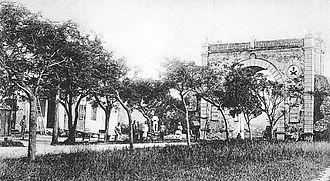 Portuguese Macau - Image: Portas do Cerco circa 1890