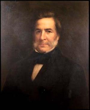 John Notman - Portrait of John Notman by Samuel Bell Waugh (1845)