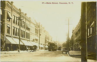 Oneonta, New York - Main Street, about 1909