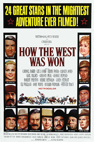 How the West Was Won (film) - Original film poster by Reynold Brown