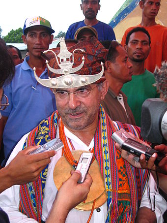 Jose Ramos-Horta, 1996 Nobel Peace Prize winner, second President of East Timor Prasidentschaftswalhkampf JRH 2007.JPG