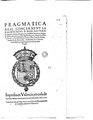 Pragmatica Real concernent la pacificacio y bon gouern de la present ciutat y Regne y la prohibicio de portar escopetes denit y de tenir y portar espases llargues (1602).pdf