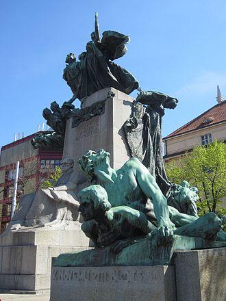 Czech nationalism - Monument of František Palacký in Prague, nicknamed Father of the Nation, considered to be father of Czech nationalism