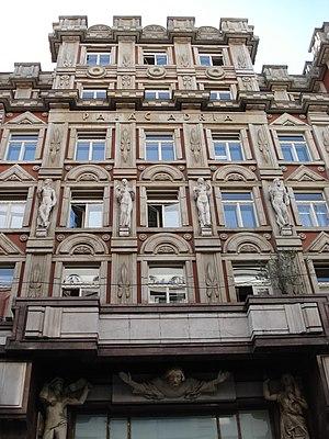 Pavel Janák - Image: Prague Palac Adria facade 2