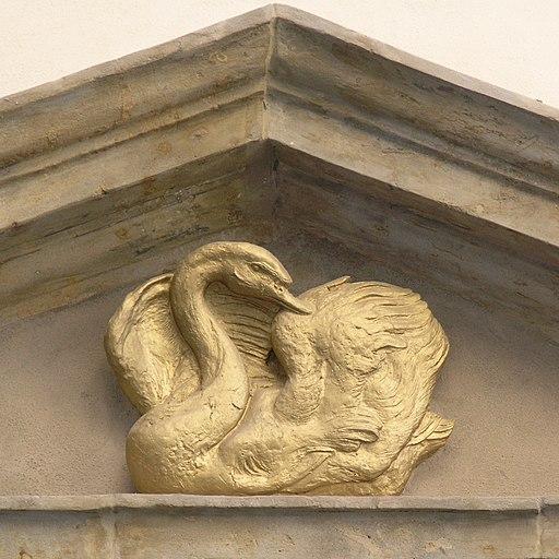 Praha, Mala Strana - Snemovni 10, U zlate labute (domovni znameni)