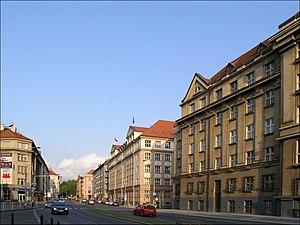 Bubeneč - Československé armády street at Bubeneč