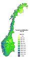Precipitation normal Norway.jpg