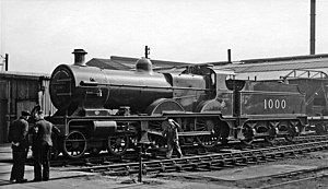 Midland Railway 1000 Class - Number 1000 at Derby Works shortly after preservation