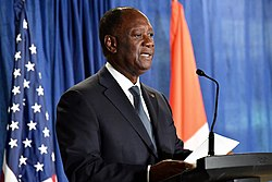 President Alassane Ouattara in Washington - 2017 (38244569701)