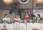 President Gloria Macapagal-Arroyo delivers her speech during a State Banquet she hosted for United States President George W. Bush Saturday evening at Malacaņang's Ceremonial Hall.jpg