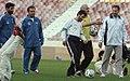 President Mahmoud Ahmadinejad, Iran's national football (soccer) team - 28 February 2006 (10 8412090596 L600).jpg