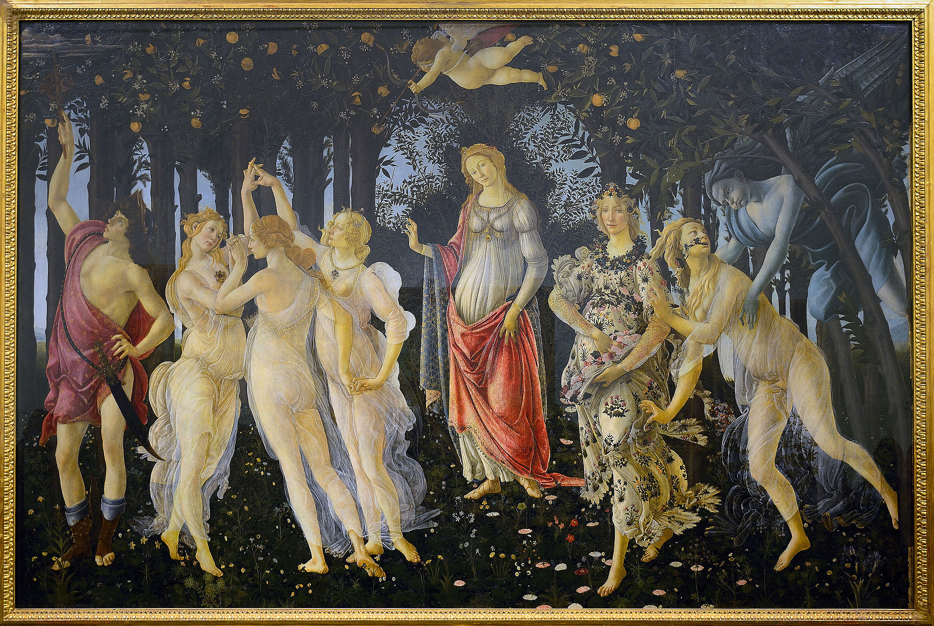 """""""Der Frühling"""" ist neben der """"Geburt der Venus"""" eines wegweisenden Renaissance-Kunstwerke von Botticelli"""