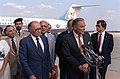 Prime Minister Menachin Begin of Israel is welcomed by Secretary of State Alexander Haig.jpg