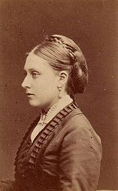 Princess Beatrice in the early 1870s, photographed by W & D Downey. During these years, Victoria grew more reliant on Beatrice.