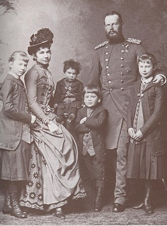 Archduchess Gisela of Austria - Gisela and Leopold with their children, about 1885