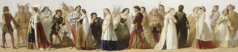 Procession of Characters from Shakespeare's Plays, Unknown Artist