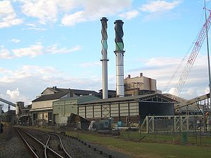 English: Sugar mill in Proserpine, Queensland.
