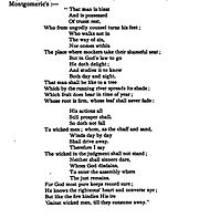 Psalm 1 Montgomerie