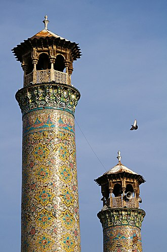 Jameh Mosque of Qazvin - Image: Qazvin Jameh Mosque minarets
