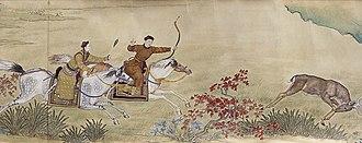 Qianlong Emperor - Qianlong emperor hunting.