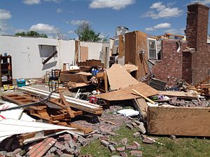 Tornado outbreak of April 27–30, 2014 - A home destroyed by the tornado in Quapaw, Oklahoma