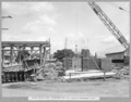 Queensland State Archives 3460 South anchor pier formwork for pour around anchorage links Brisbane 1 March 1937.png