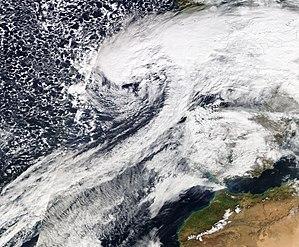 Cyclone Quinten - Image: Quinten 9 February 2009
