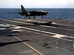 RA-3B of VAP-61 landing on USS Kitty Hawk (CVA-63) c1968.jpg
